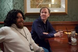 Howard Andrew Jones and Saladin Ahmed at ConFusion 2014. Photo by Al Bogdan.