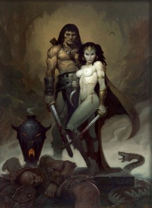 Conan and Belit by Brom.