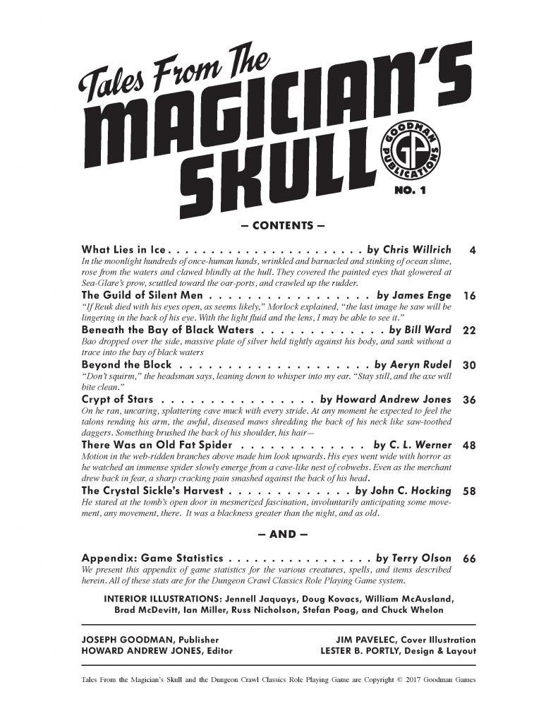 Magicians Skull ToC